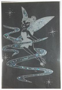 Fée en gravure sur verre
