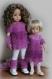 Fiche tricot : flocon rose, ensemble pour poupées de 25-27 cm et de 32-33 cm