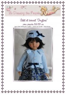 Fiche tricot : anytime, gilet et bonnet pour poupées de 32-33 cm