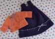 Fiche tricot : robe et gilet azalea pour poupées de 46-52 cm