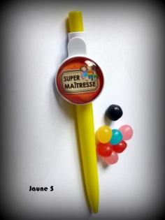 Cadeau école - stylo avec cabochon en verre à offrir à la maîtresse