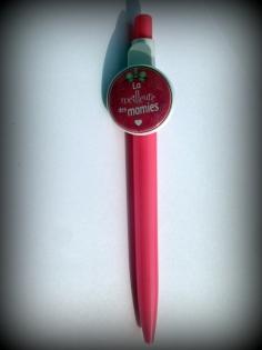 Cadeau mamie - fête des grand-mèrres - stylo avec cabochon