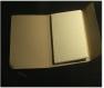 Note book de 15 carttes journaling embossées couleur ivoire