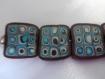 Bracelet graphique marron, beige et bleu turquoise