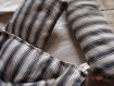 Literie pour poupée faite main avec de l'ancienne toile à matelas .matelas , traversin , oreiller