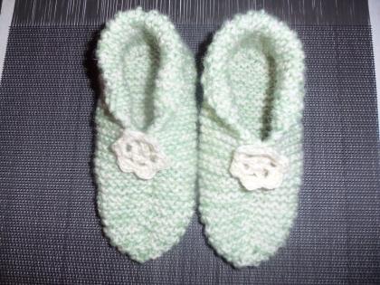 Chaussons laine pour fille pointure 32/33 -