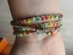 Bracelet 3 ou 4 tours de poignet façon macramé