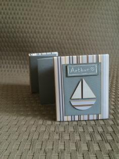 Mini album photo accordéon naissance bébé enfant