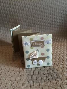 Mini album photo accordéon naissance bébé