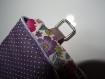 Housse tablette liseuse sur mesure liberty ou tissu fleuri au choix matelassé initiales brodées...