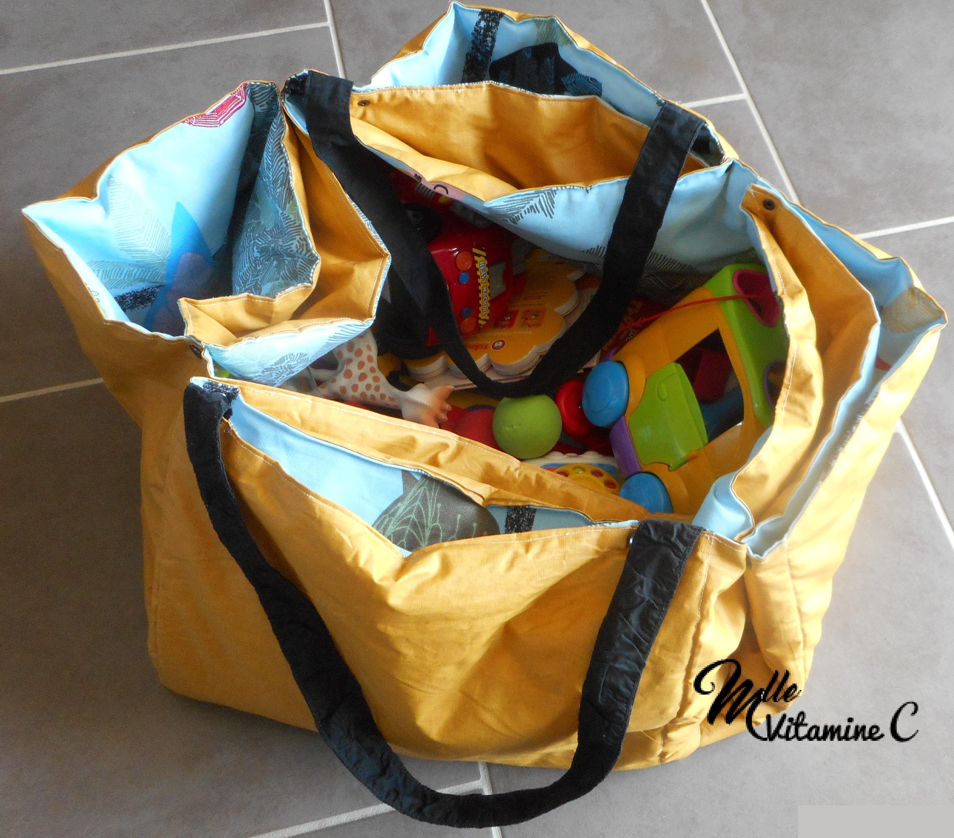 Sac De Jeu Nomade sac de rangement/tapis de jeu nomade (90x90)