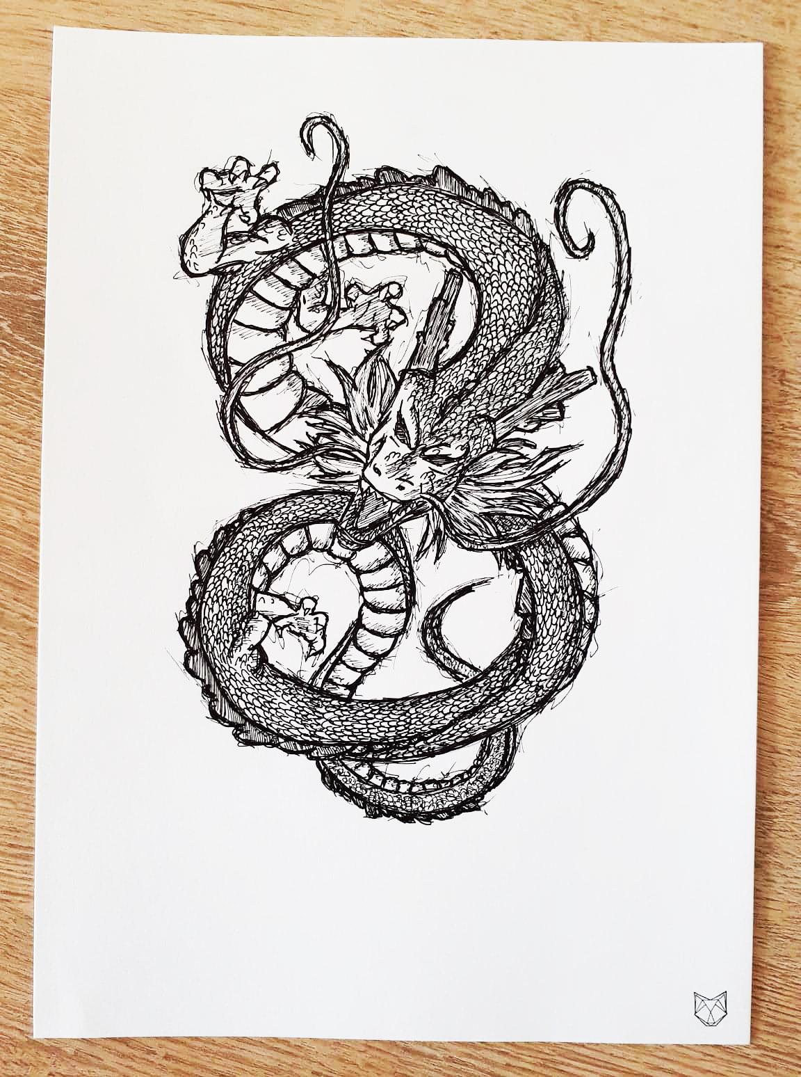 Dessin Manga Shenron Dragon Ball Art Peintures Par Shad
