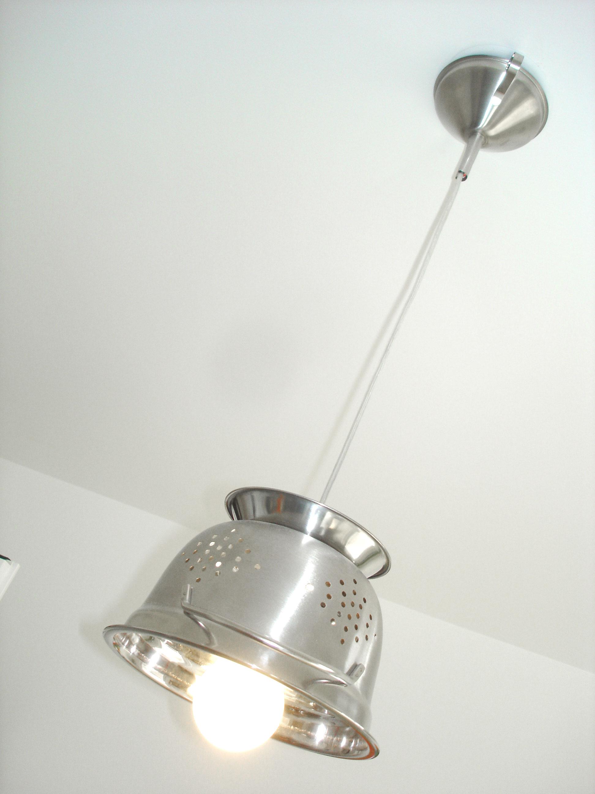 lampe passoire d co cuisine design et tendance inox bross luminaires par dbdesign. Black Bedroom Furniture Sets. Home Design Ideas