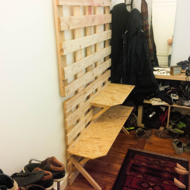 Faire Un Meuble A Chaussure En Palette meuble palettes chaussures/manteaux