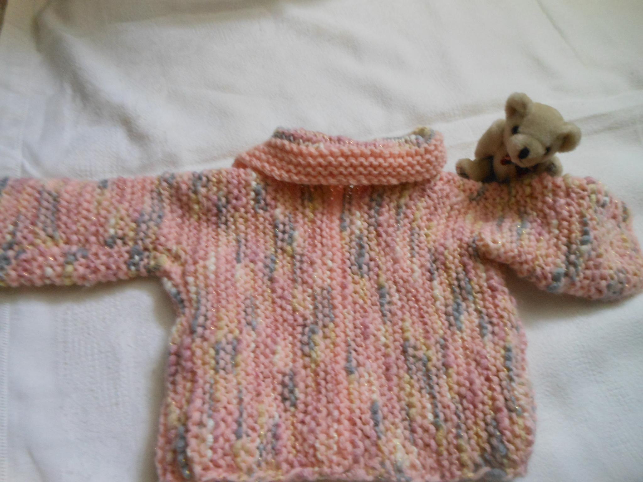 gilet bebe fille tricote 6 mois accessoires bebe par dominiqueiw. Black Bedroom Furniture Sets. Home Design Ideas