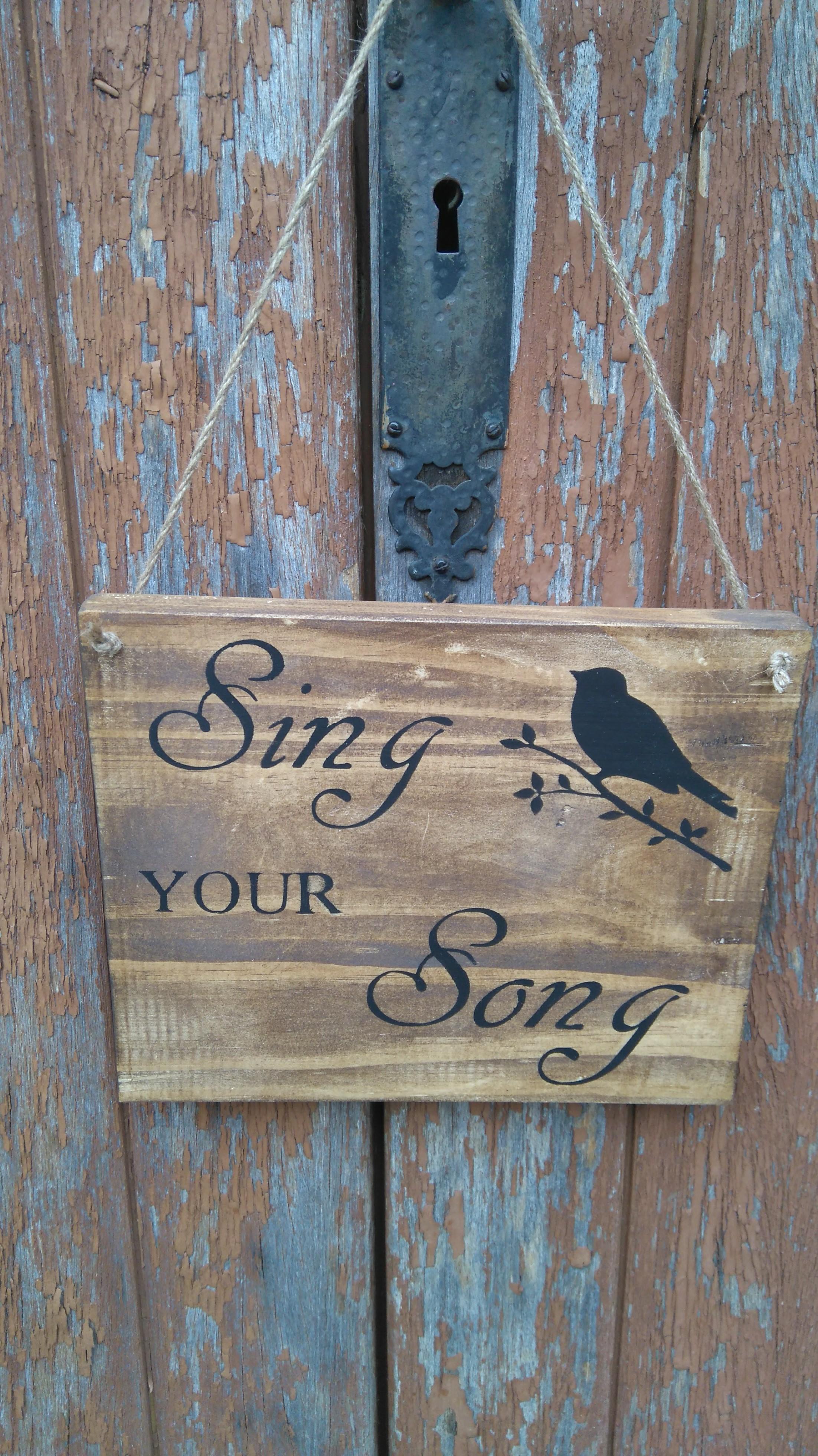 panneau mural sing your song decoration murale maison par battementdelle. Black Bedroom Furniture Sets. Home Design Ideas