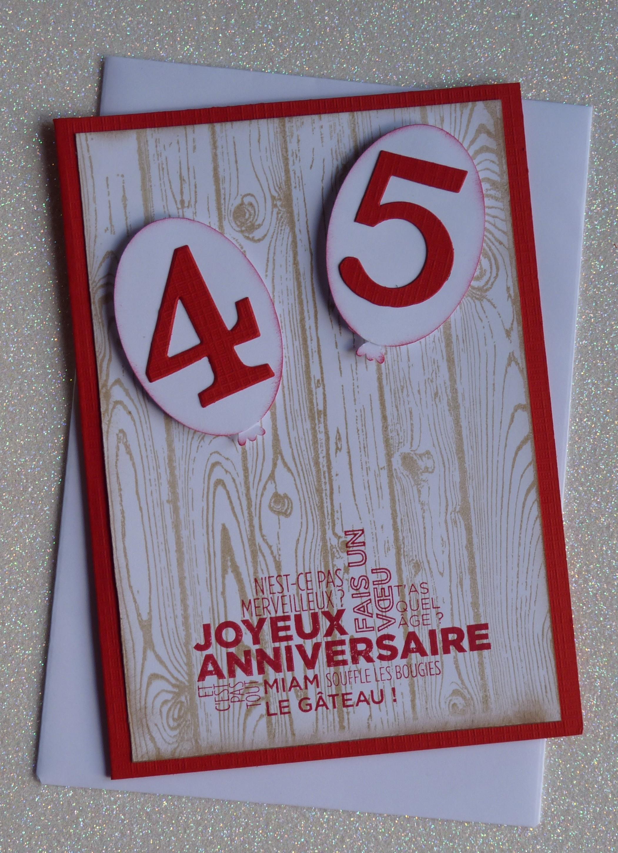 Carte d 39 anniversaire 40 ans fait main et son enveloppe par beacreations - Carte anniversaire fait main ...