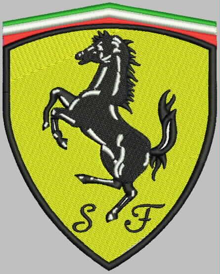 Motif Broderie Machine Logo Ferrari Patrons Et Modeles Par Feemain94