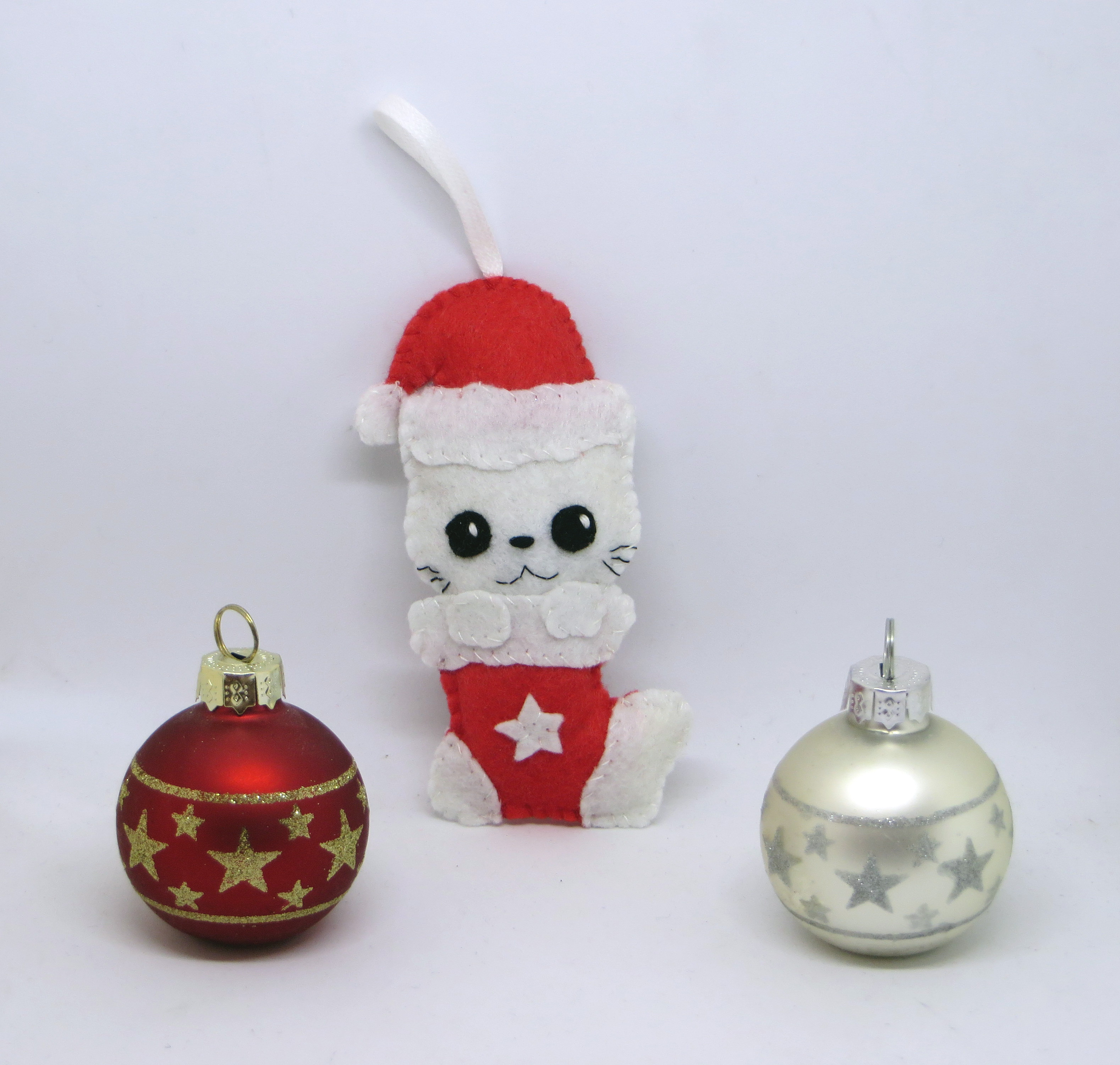 Decoration de noel chat chat kawaii deco noel decoration de noel boule de noel decoration - Decoration boule de noel ...