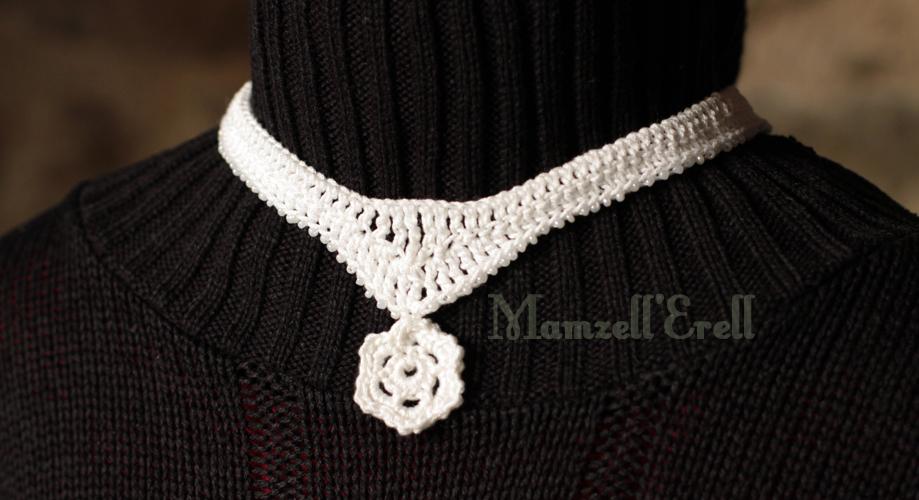 collier ras de cou au crochet