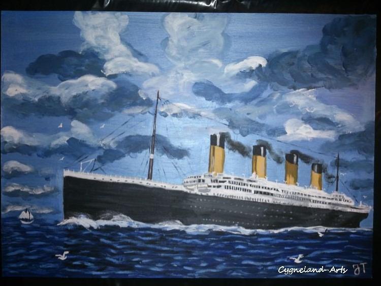 Dessin du bateau le titanic art peintures par cygnelandarts - Dessin du titanic ...