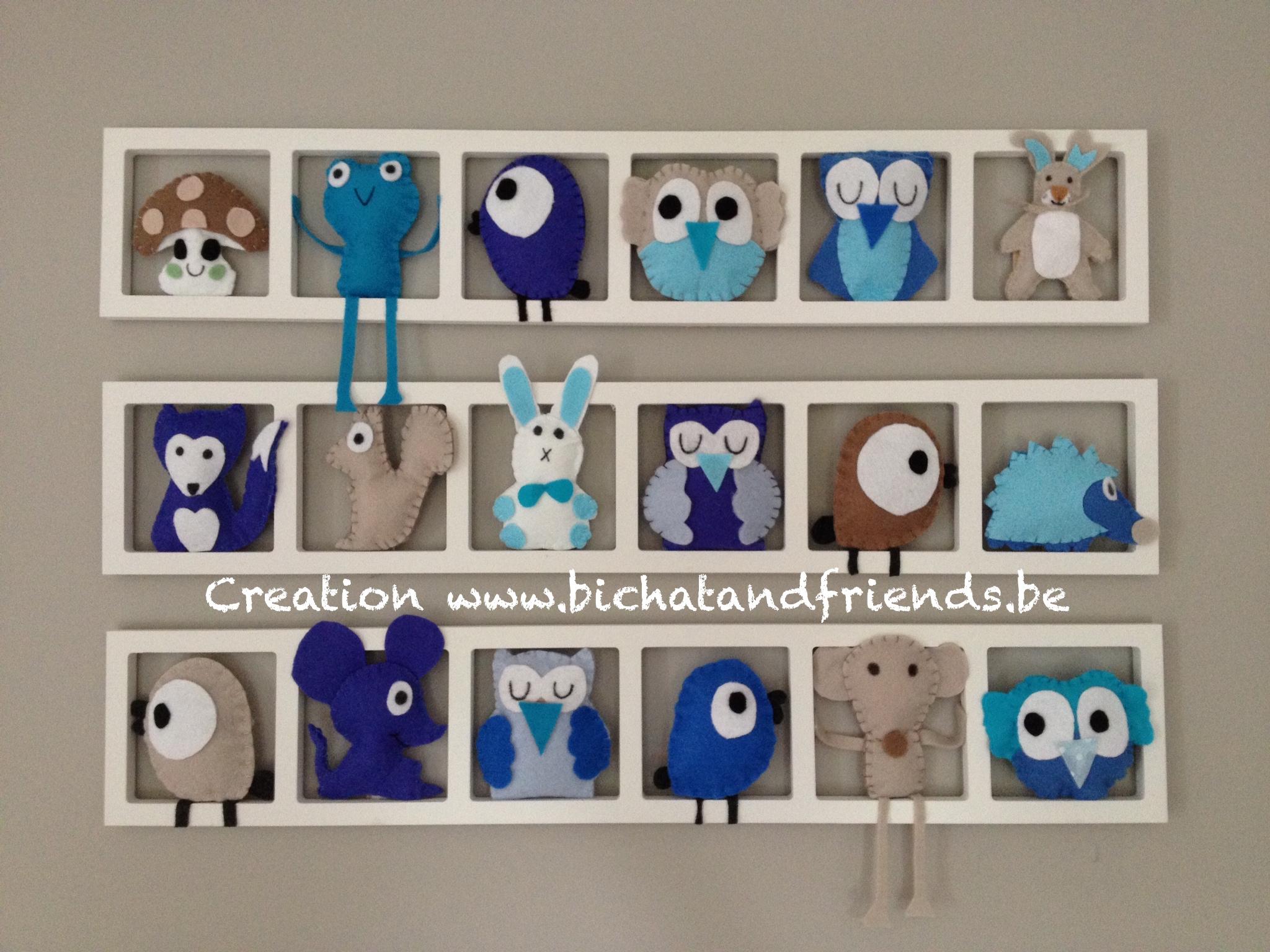 cadre mural deco bleu et beige enfants anniversaires par decobebe. Black Bedroom Furniture Sets. Home Design Ideas