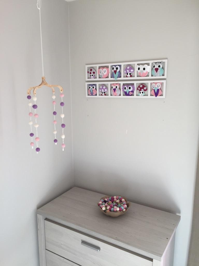 Cadeau naissance original pour bebe d co chambre b b unique et personnalis e hiboux et - Deco chambre original ...