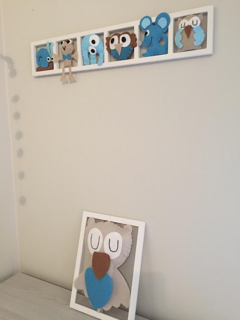 Décoration chambre enfant et bébé unique en feutrine - aqua gris ...