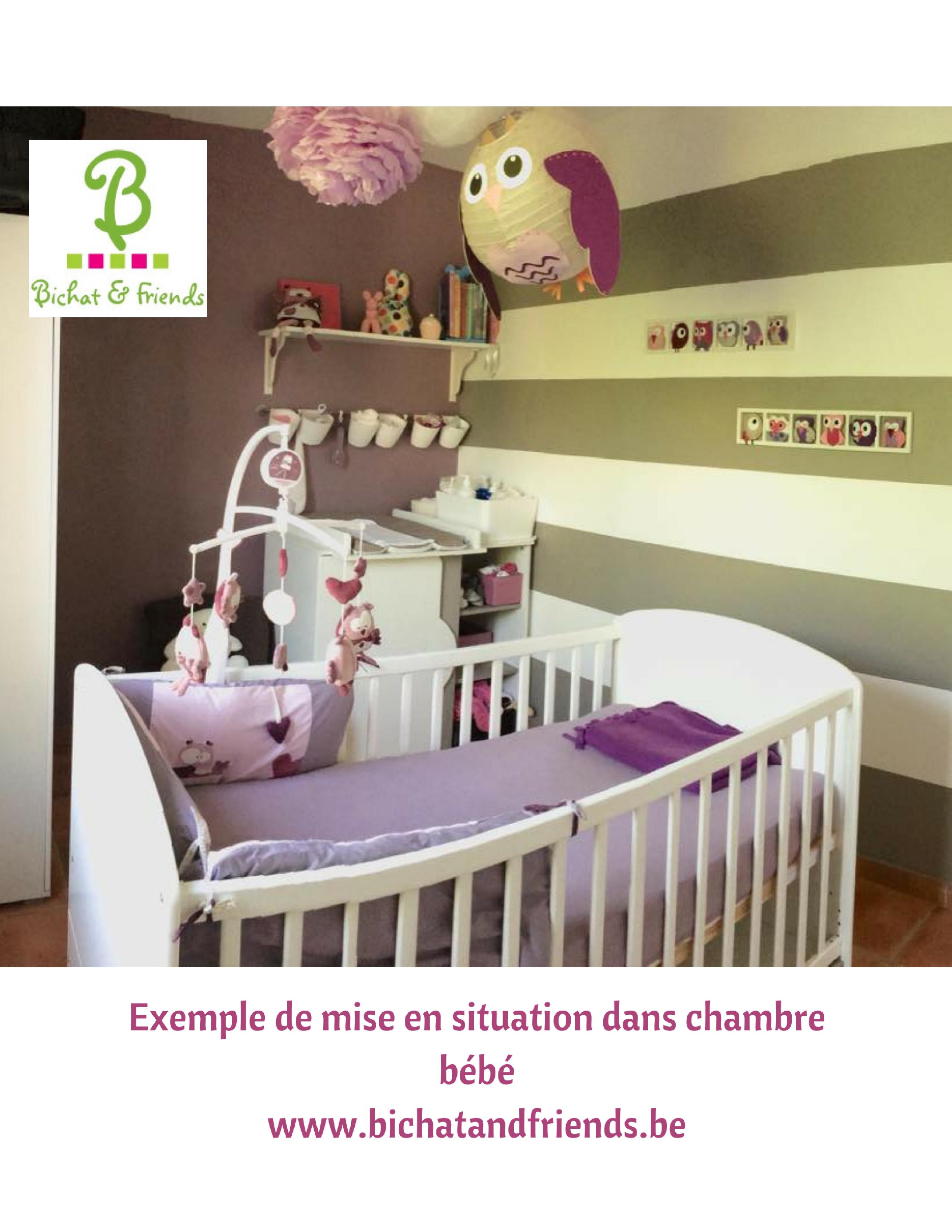Idée décoration chambre enfant et bébé. Cadre decoratif pour chambre - Tons  rose lila mauve beige.