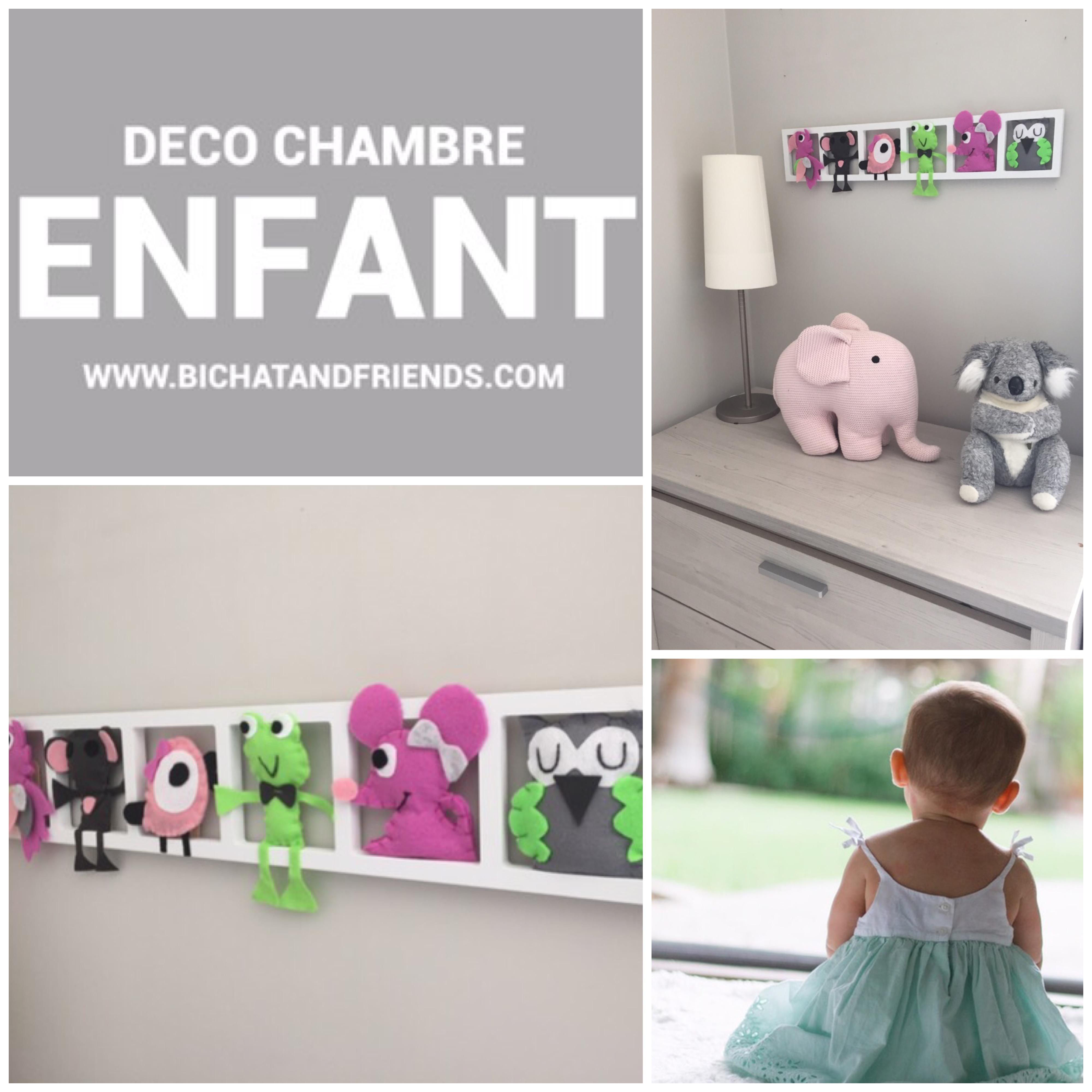 Deco Chambre Bebe Fille décoration chambre bebe fille, cadre mural deco tons rose vert gris, cadeau  de naissance original et personnalisé!