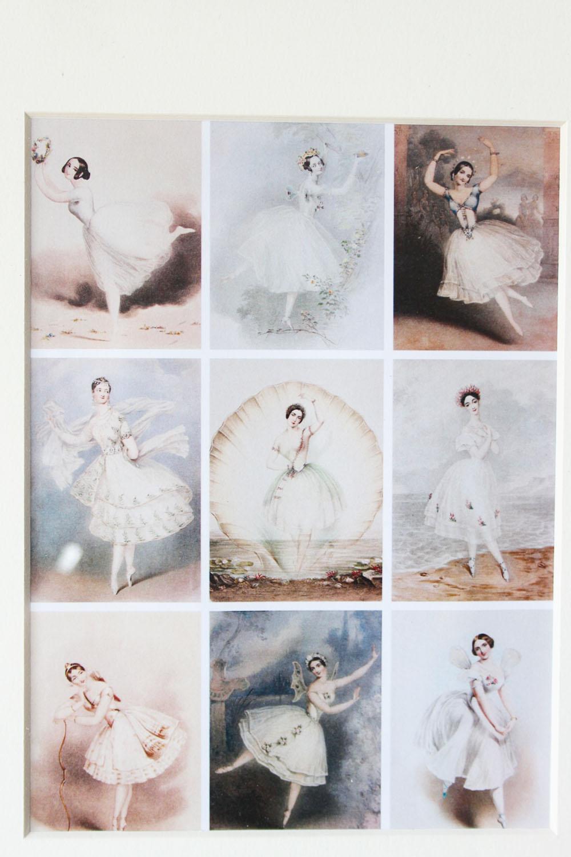 Ambiance Et Style Tableau tableau cadre en bois, argenté, romantique - ballerines, danseuse de ballet  - pour une ambiance shabby