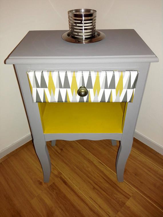 Table de nuit chevet scandinave meubles par pausecie - Table de chevet fait maison ...
