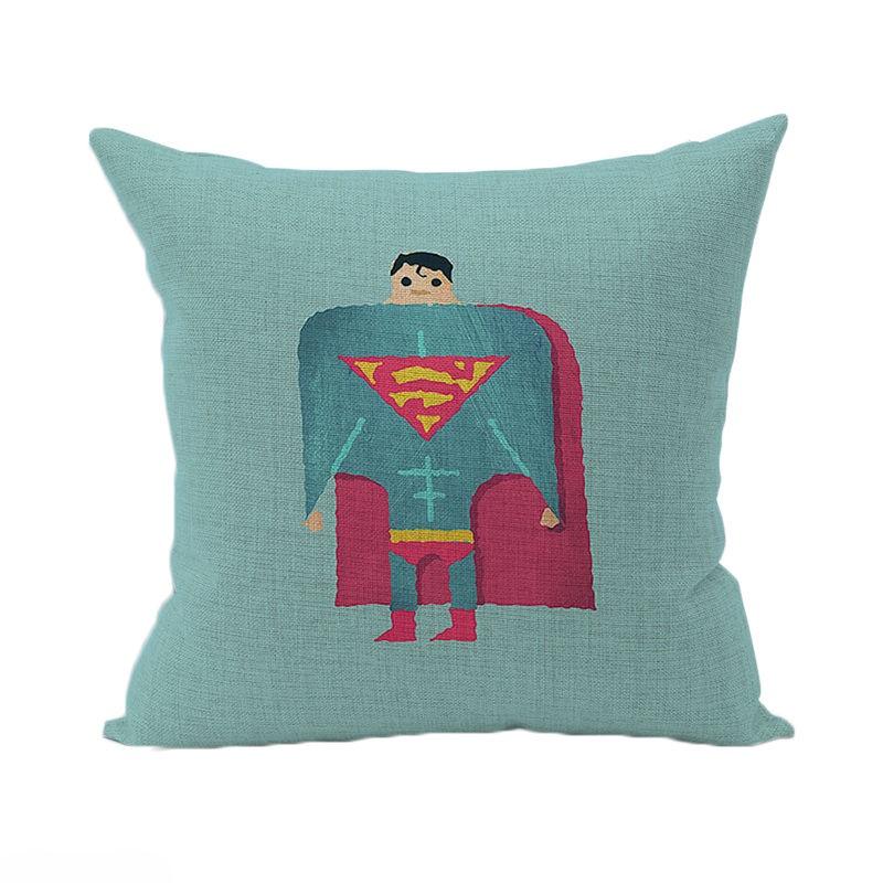 housse de coussin super man 45x45 cm linge de maison par. Black Bedroom Furniture Sets. Home Design Ideas