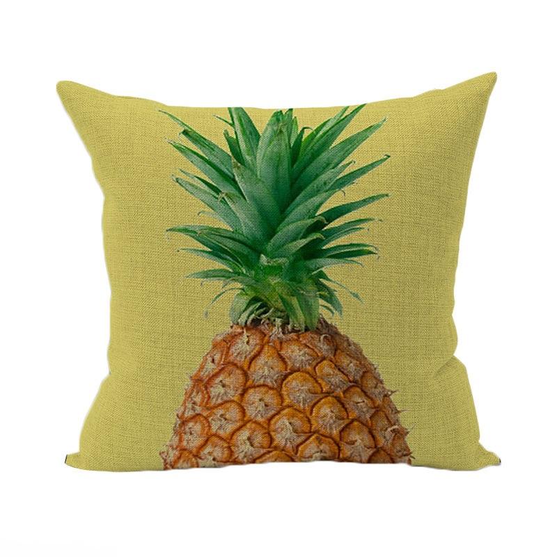housse de coussin ananas 45x45 cm linge de maison par. Black Bedroom Furniture Sets. Home Design Ideas