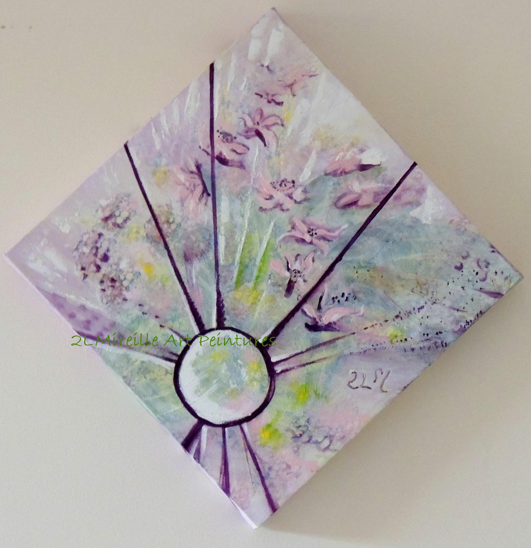 porte bijoux clat floral rose mauve tableau mi abstrait mi figuratif art peintures par. Black Bedroom Furniture Sets. Home Design Ideas