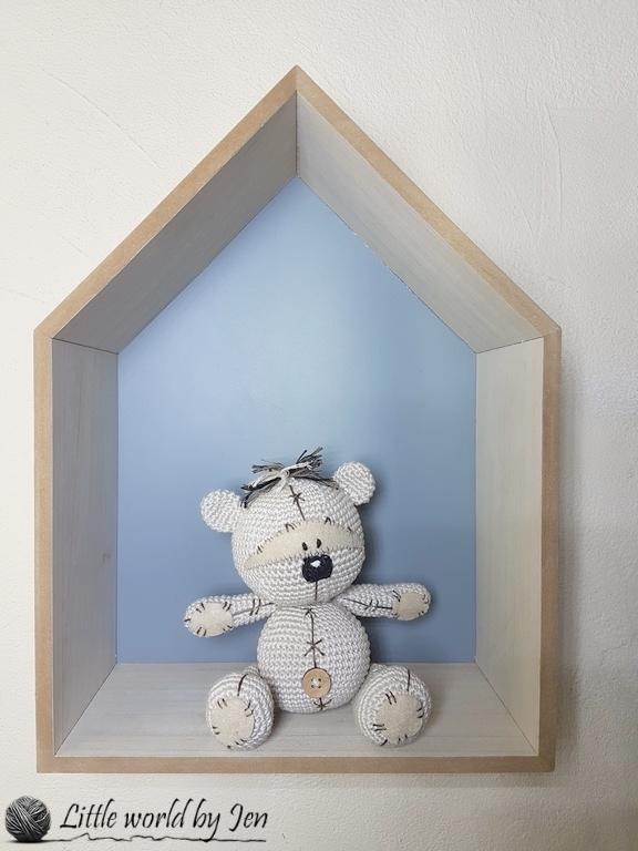 Fizzy bear doudou amigurumi crochet beige - Un grand marché | 768x576