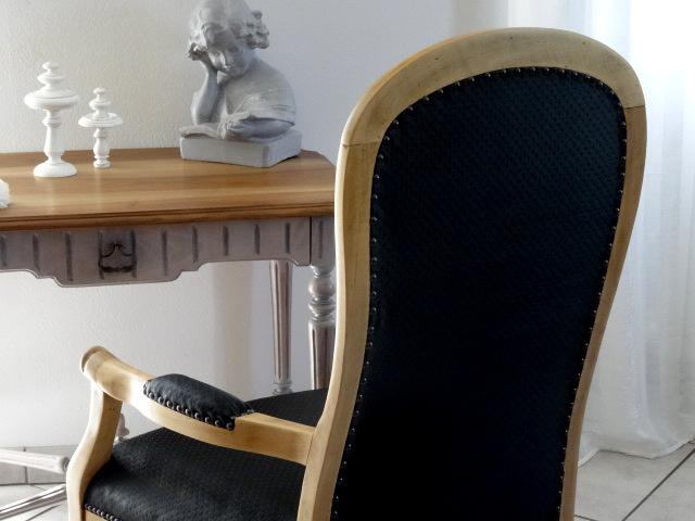 fauteuil voltaire forme violon style louis philippe adriana art autres art par. Black Bedroom Furniture Sets. Home Design Ideas