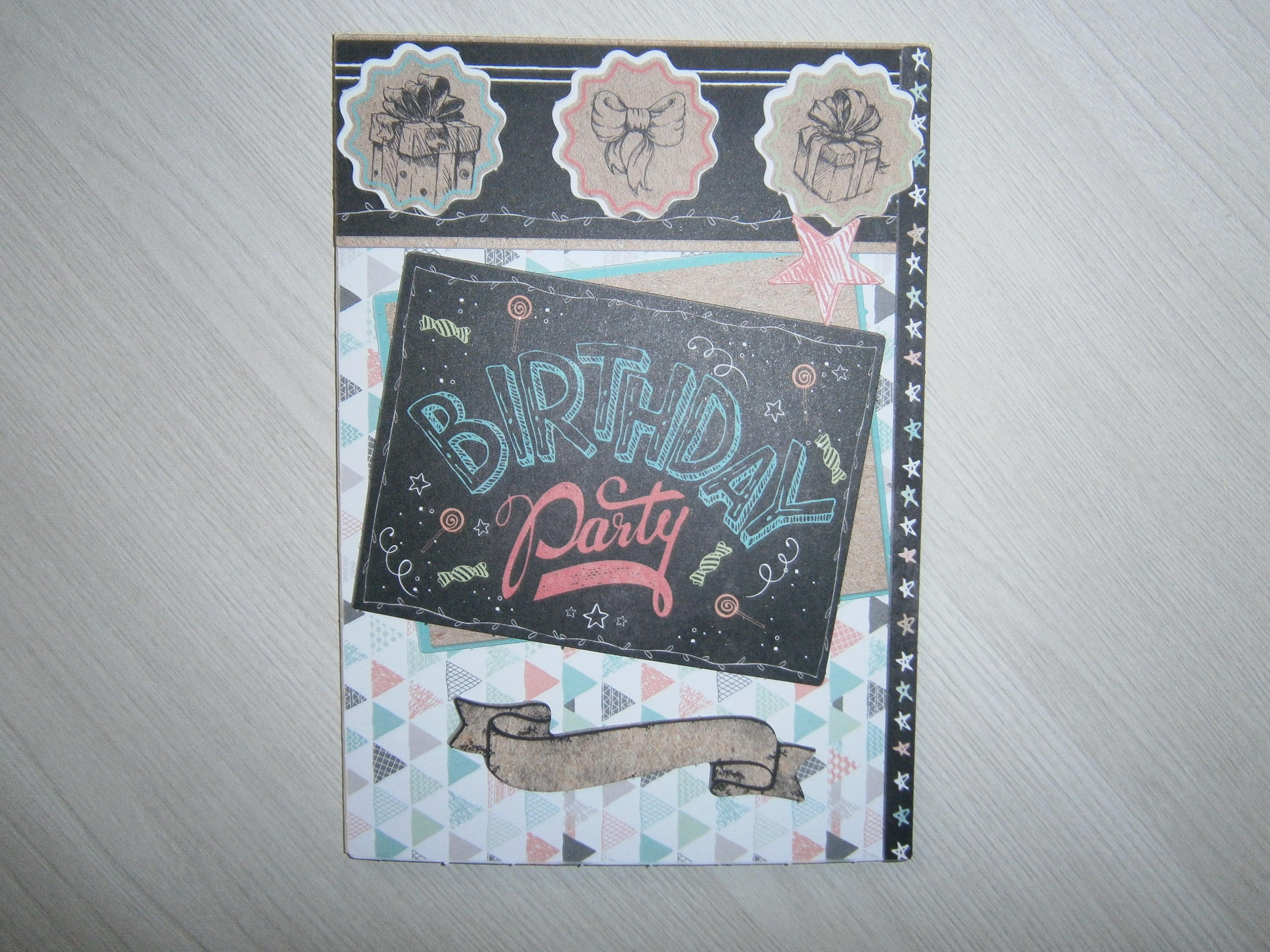 carte fait main anniversaire papeterie cartes anniversaire par la deco a juju. Black Bedroom Furniture Sets. Home Design Ideas