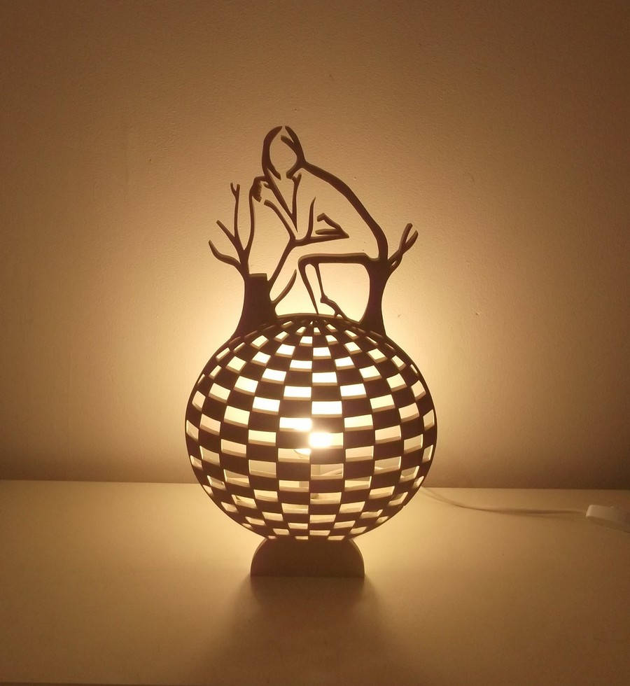 En Lampe À Poser Artisanale Bois Peuplier SUMVpjLqzG