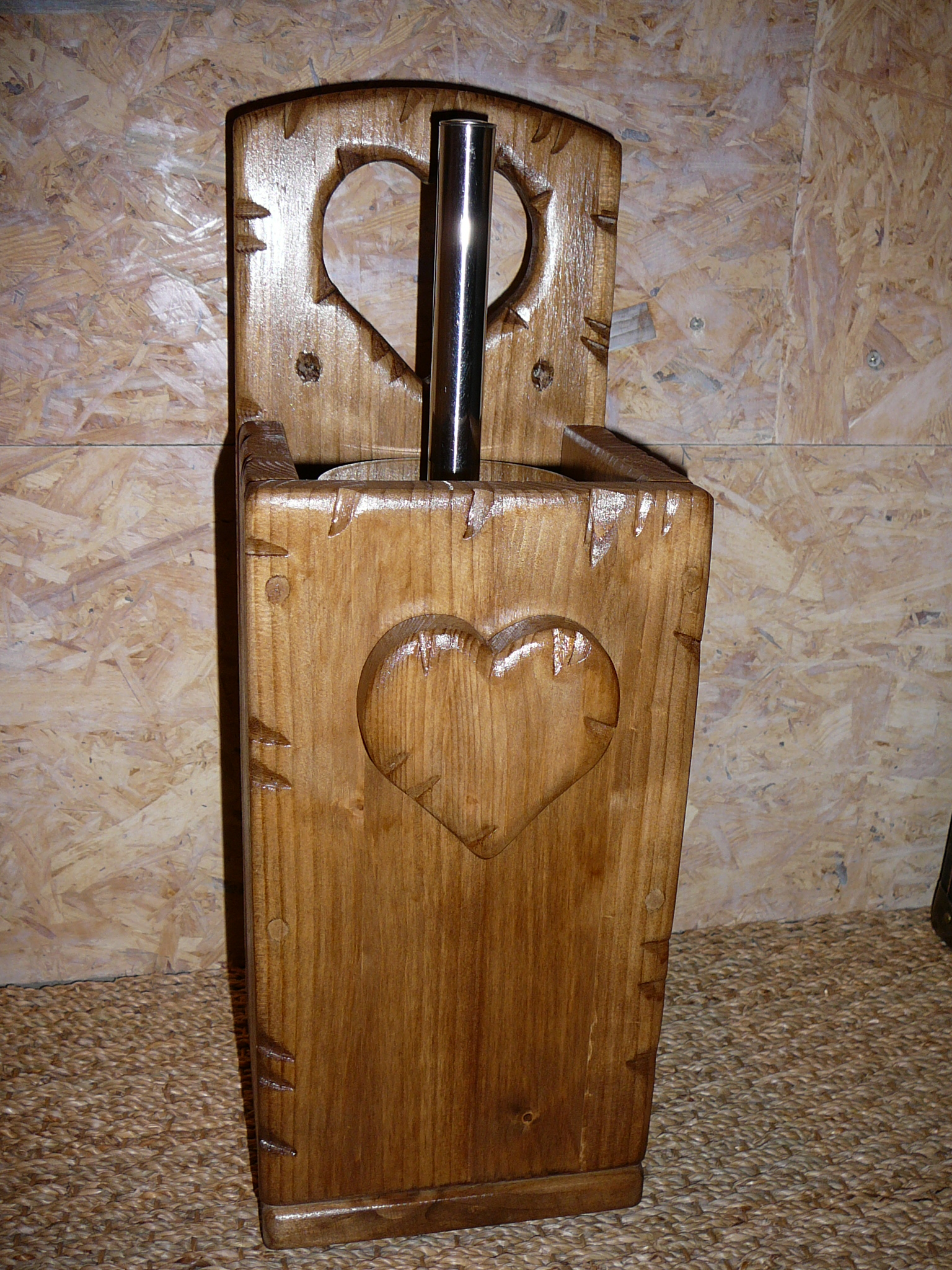 cache de support brosse wc toilettes coeur bois d co chalet montagne campagne maison et deco. Black Bedroom Furniture Sets. Home Design Ideas