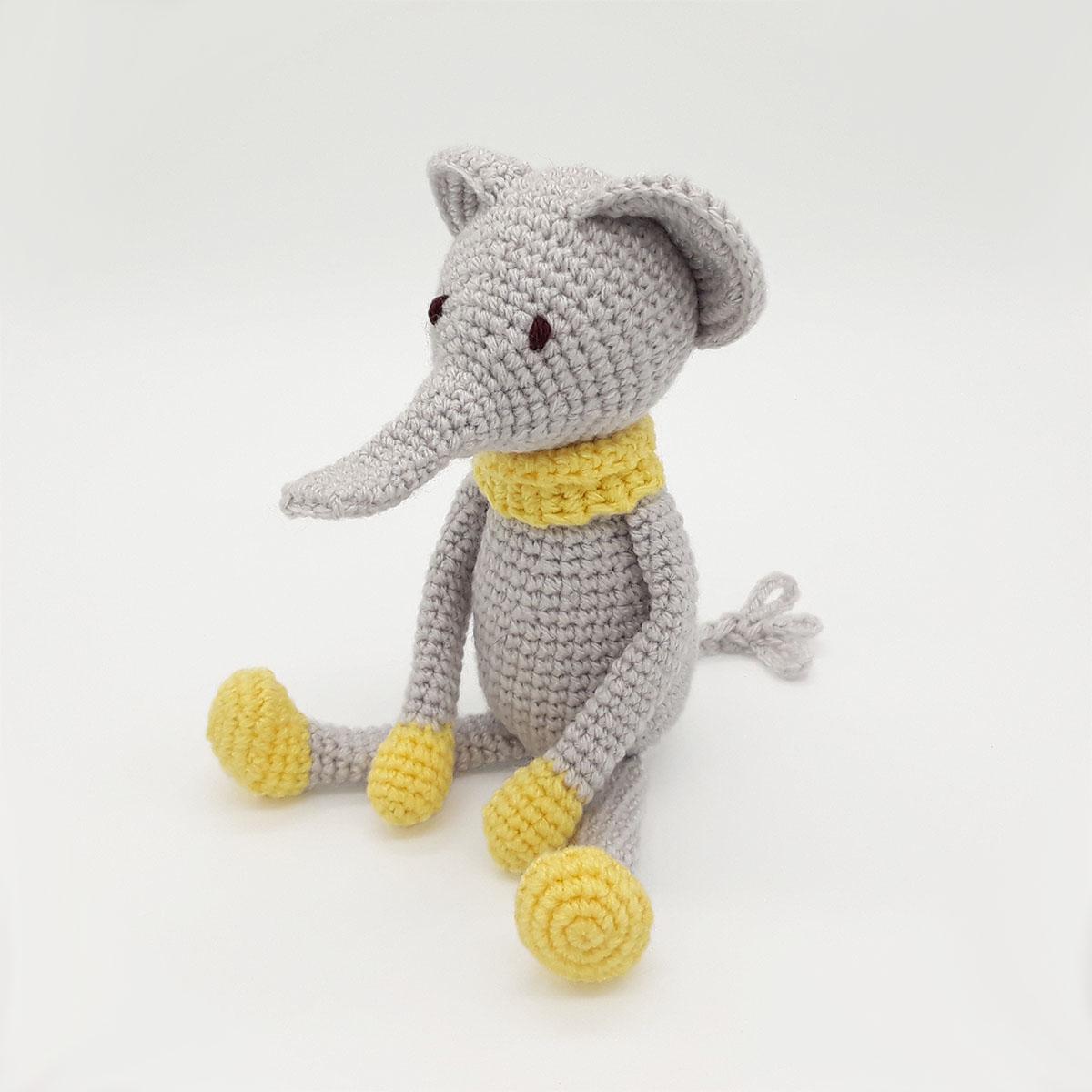 Patron gratuit Amigurumi éléphant au crochet | Les Tricots et ... | 1200x1200