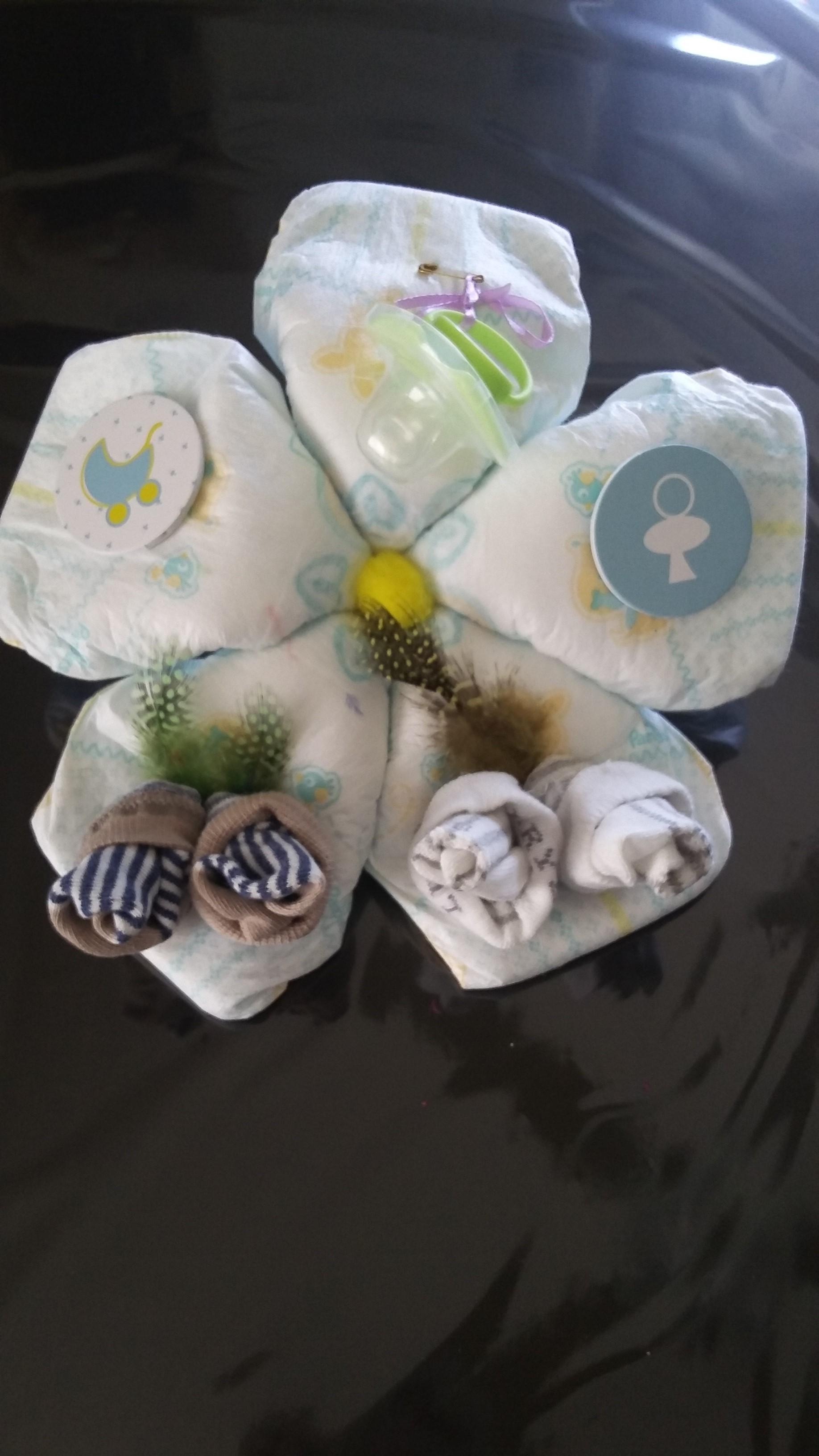 fleurs de naissance original fait main cadeau de naissance original mode b b enfants. Black Bedroom Furniture Sets. Home Design Ideas