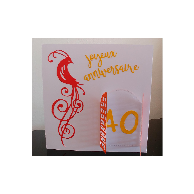 Carte Joyeux Anniversaire Fait Main Carte Oiseau Carte