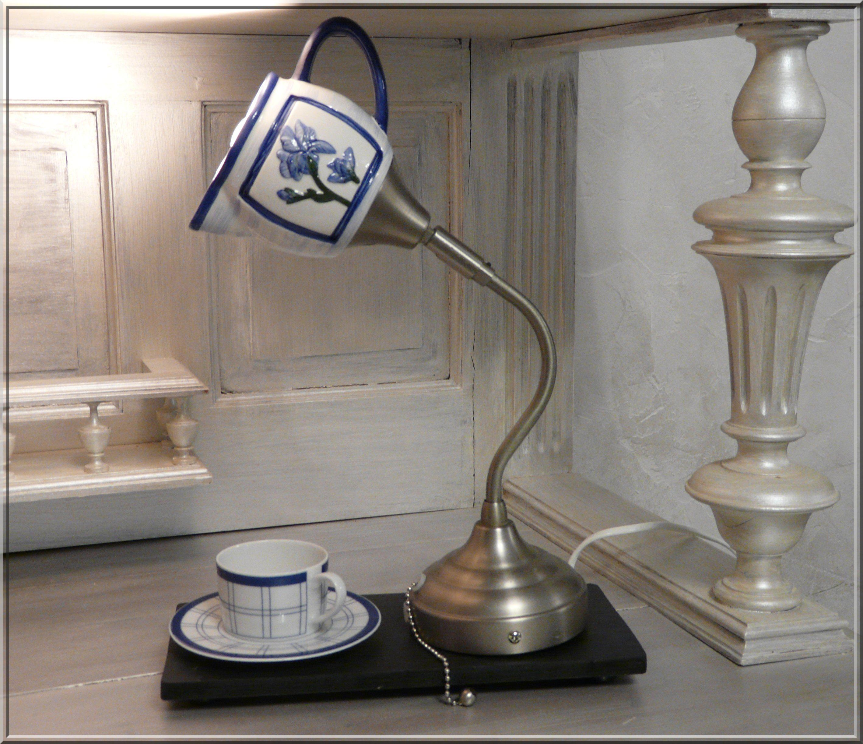 pot lait recycl lampe poser originale luminaires. Black Bedroom Furniture Sets. Home Design Ideas