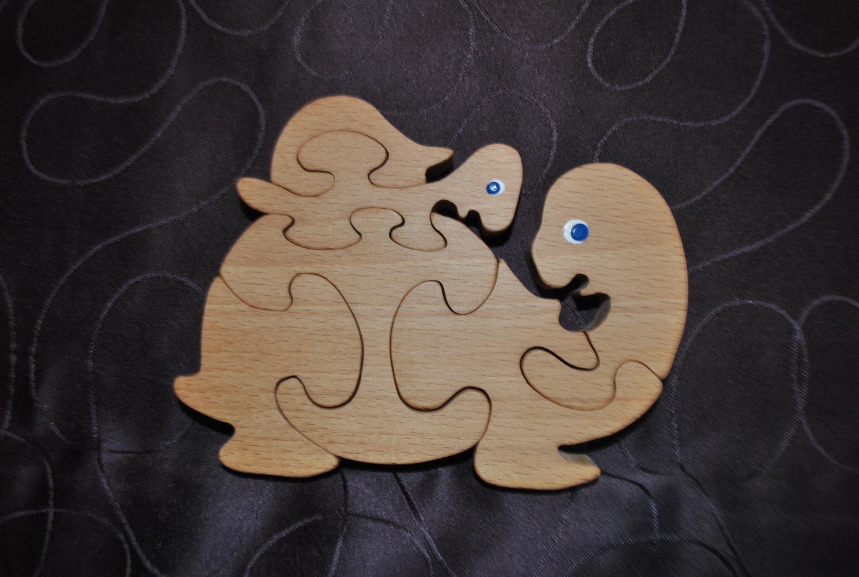puzzle tortue et son bebe en bois de hetre naturel enfants anniversaires par bbcamille5369. Black Bedroom Furniture Sets. Home Design Ideas