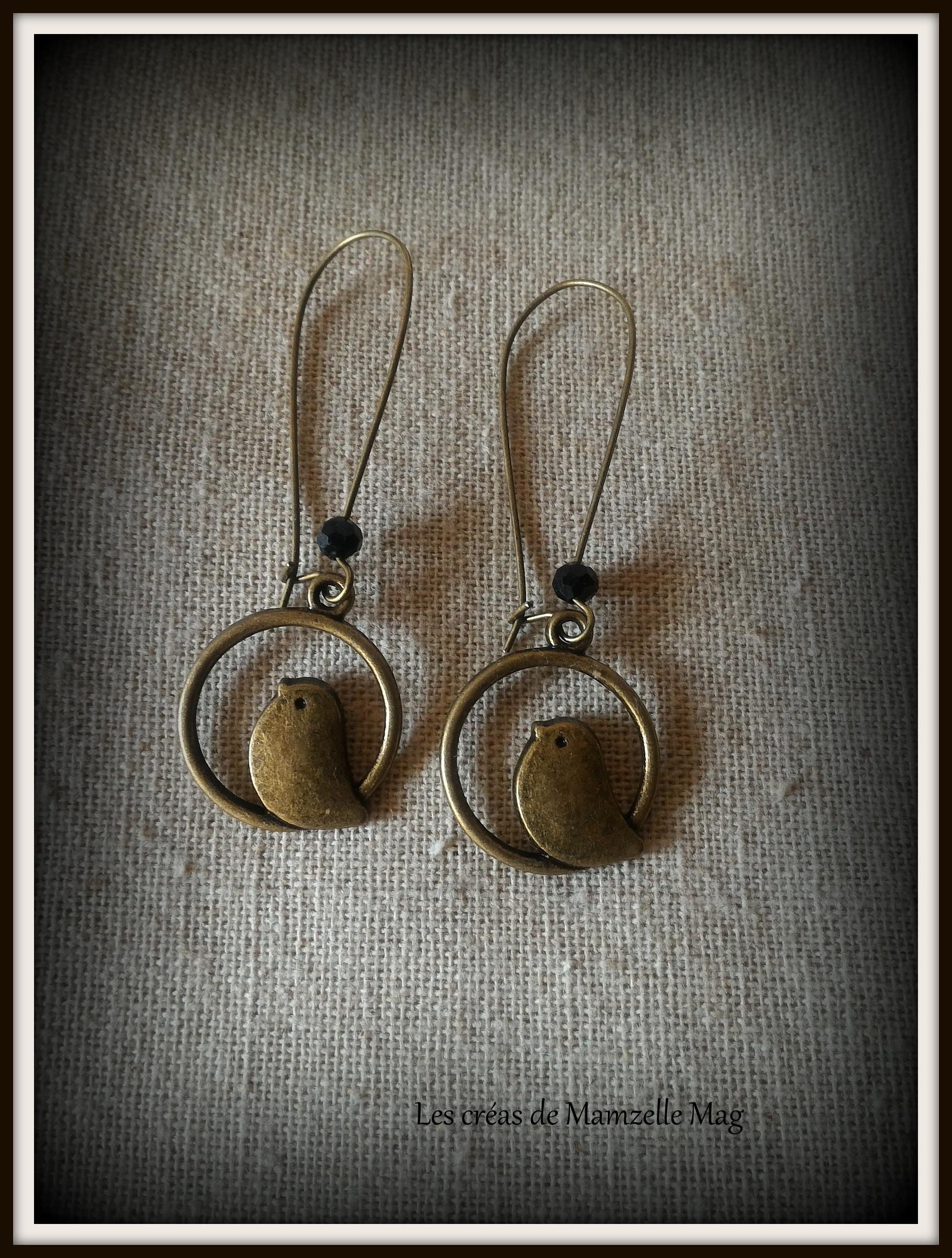 boucle d'oreille bronze