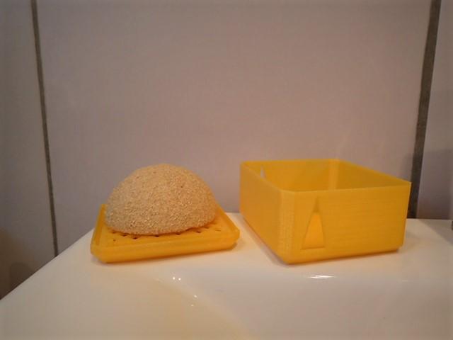 boite porte savon avec grille et r servoir maison et deco accessoires par troposfair. Black Bedroom Furniture Sets. Home Design Ideas