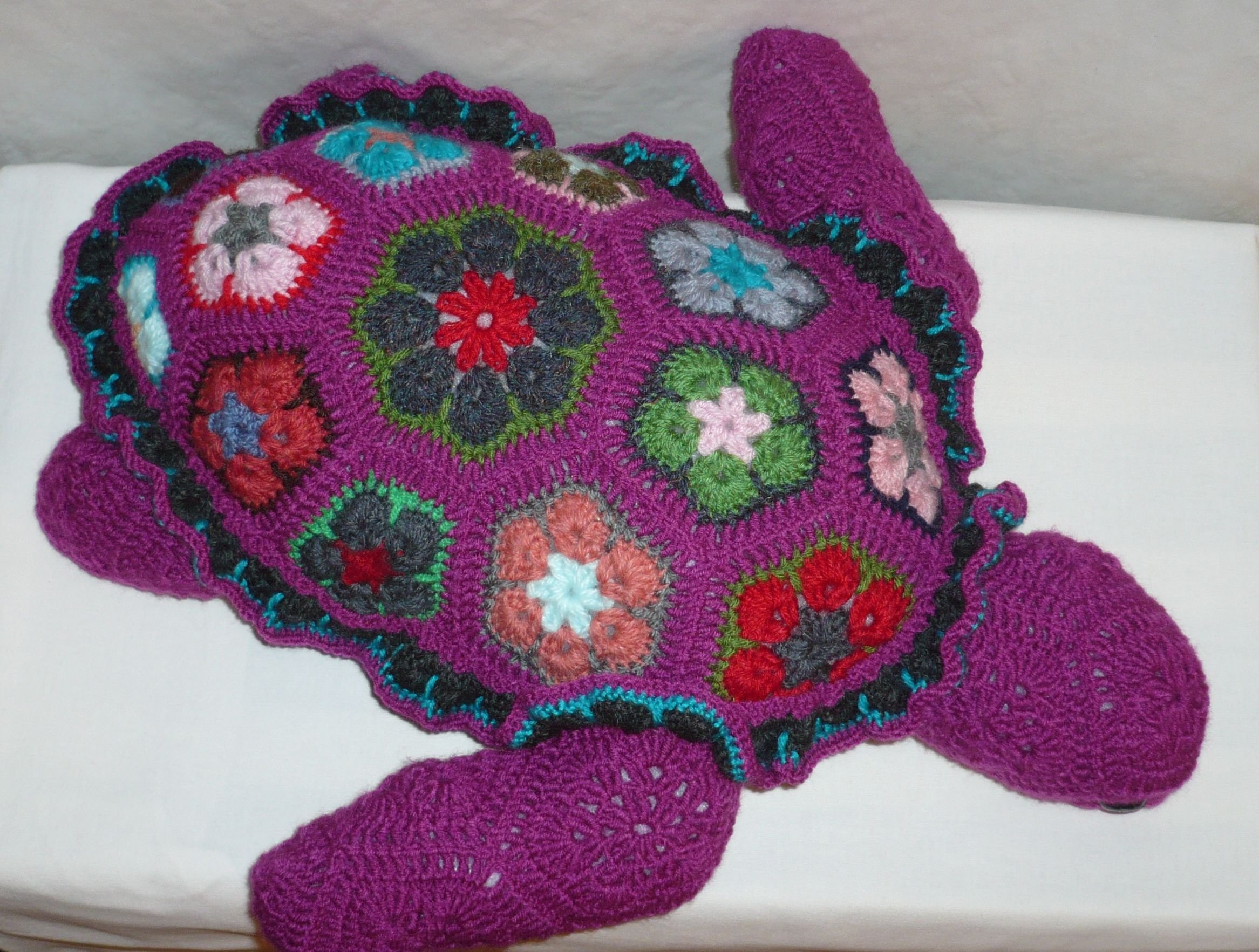 Tortue plage crochet