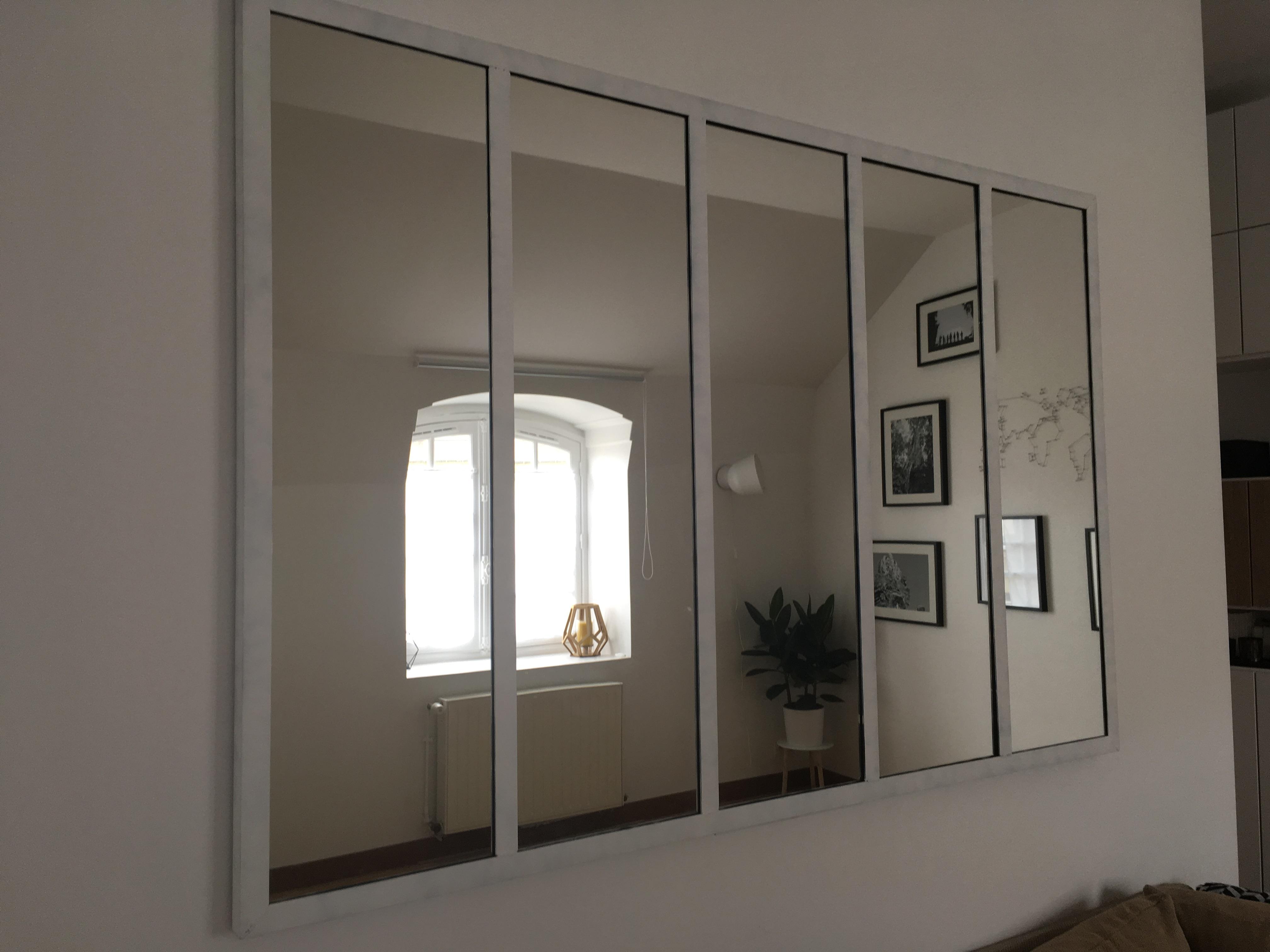miroir style industriel maison et deco miroirs par. Black Bedroom Furniture Sets. Home Design Ideas