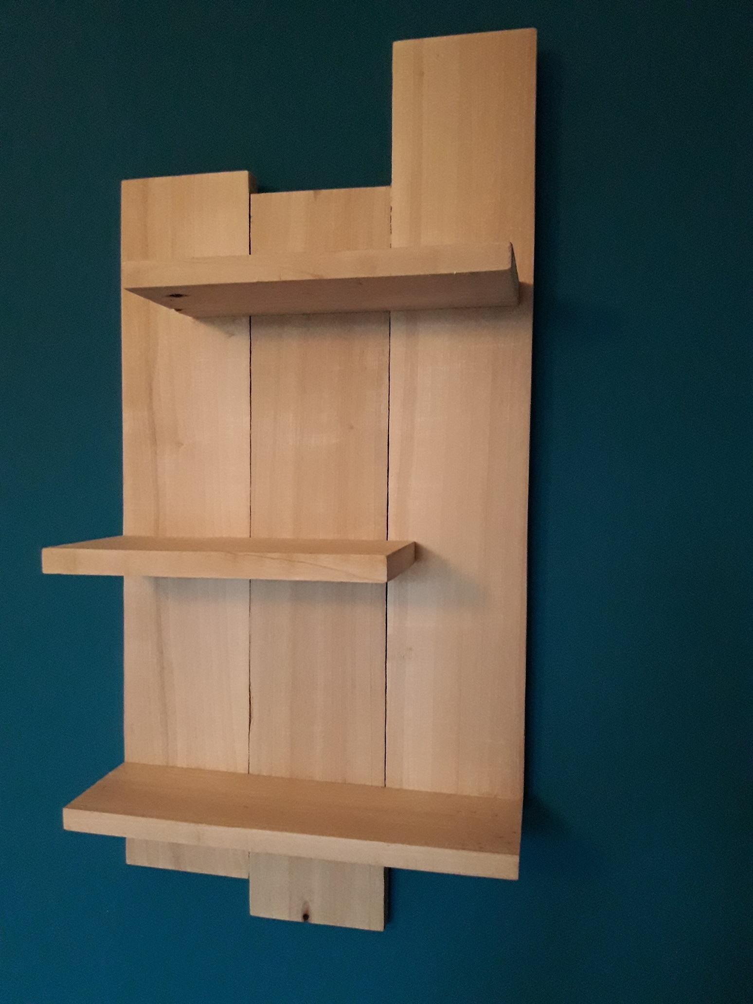 etag re en bois brut decoration murale maison par. Black Bedroom Furniture Sets. Home Design Ideas